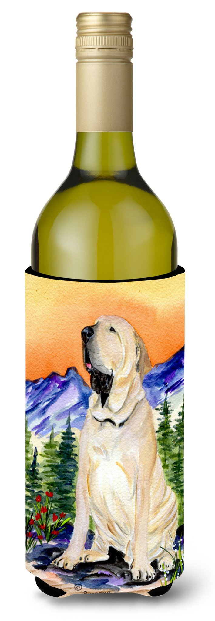 Brazilian Mastiff  / Fila Brasileiro Wine Bottle Beverage Insulator Beverage Insulator Hugger by Caroline's Treasures