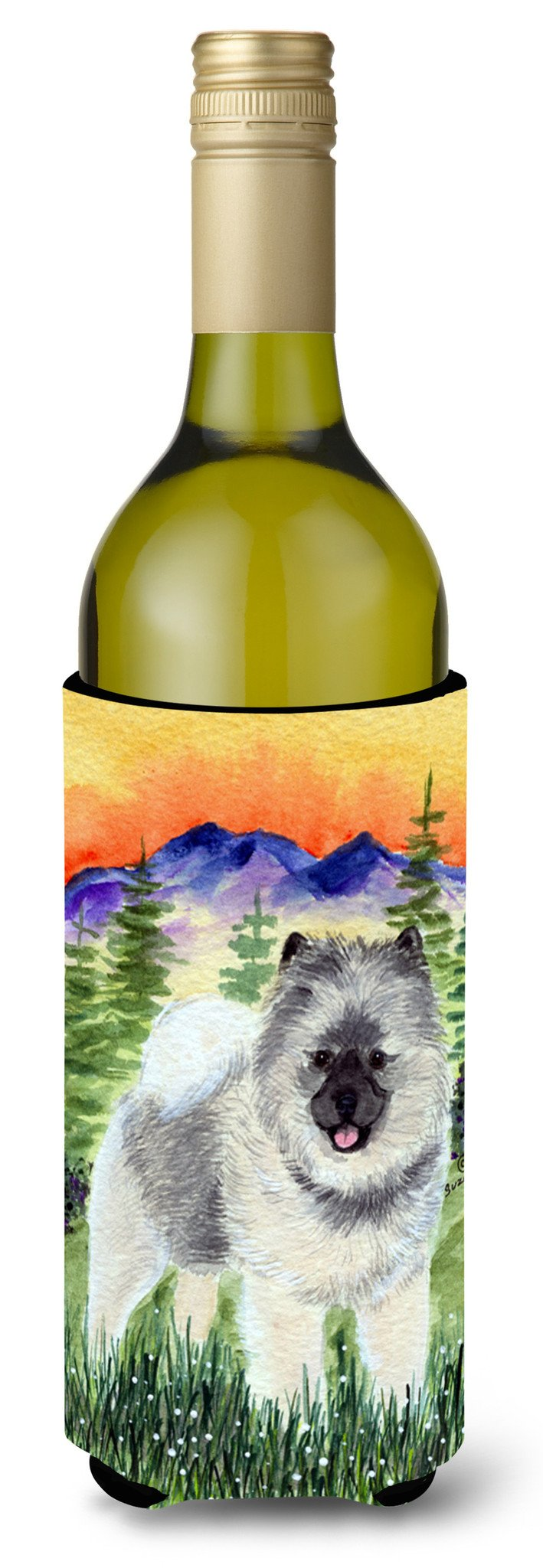 Keeshond Wine Bottle Beverage Insulator Beverage Insulator Hugger SS8192LITERK by Caroline's Treasures