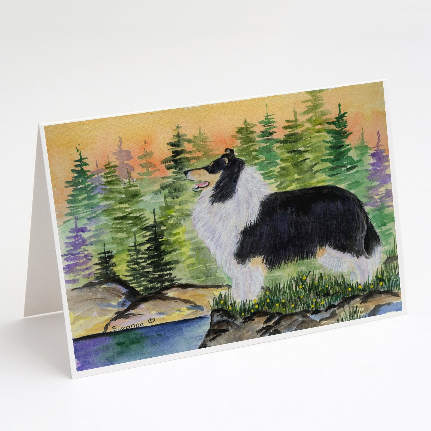 Buy this Collie Greeting Cards and Envelopes Pack of 8
