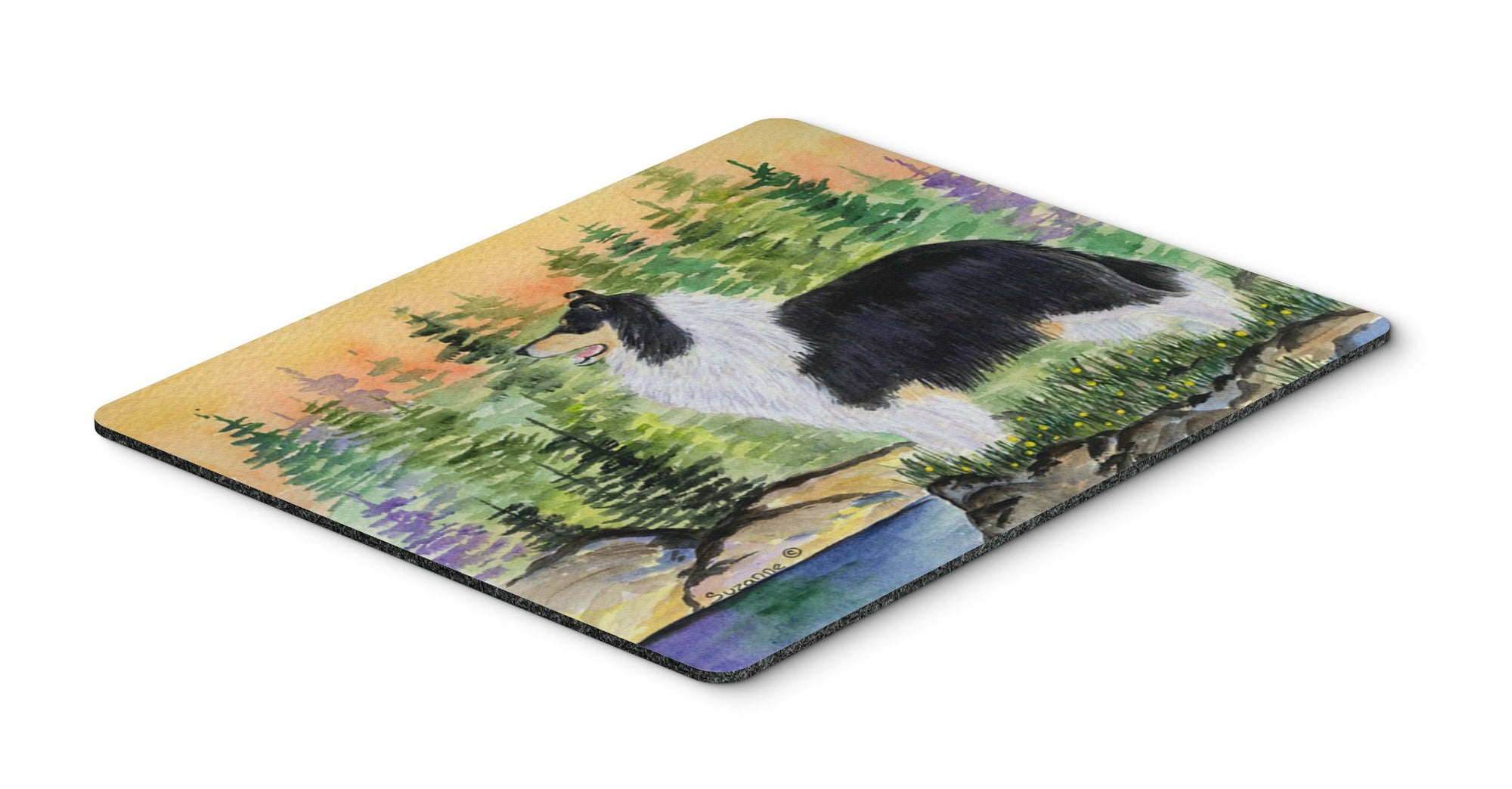 Collie Mouse pad, hot pad, or trivet by Caroline's Treasures