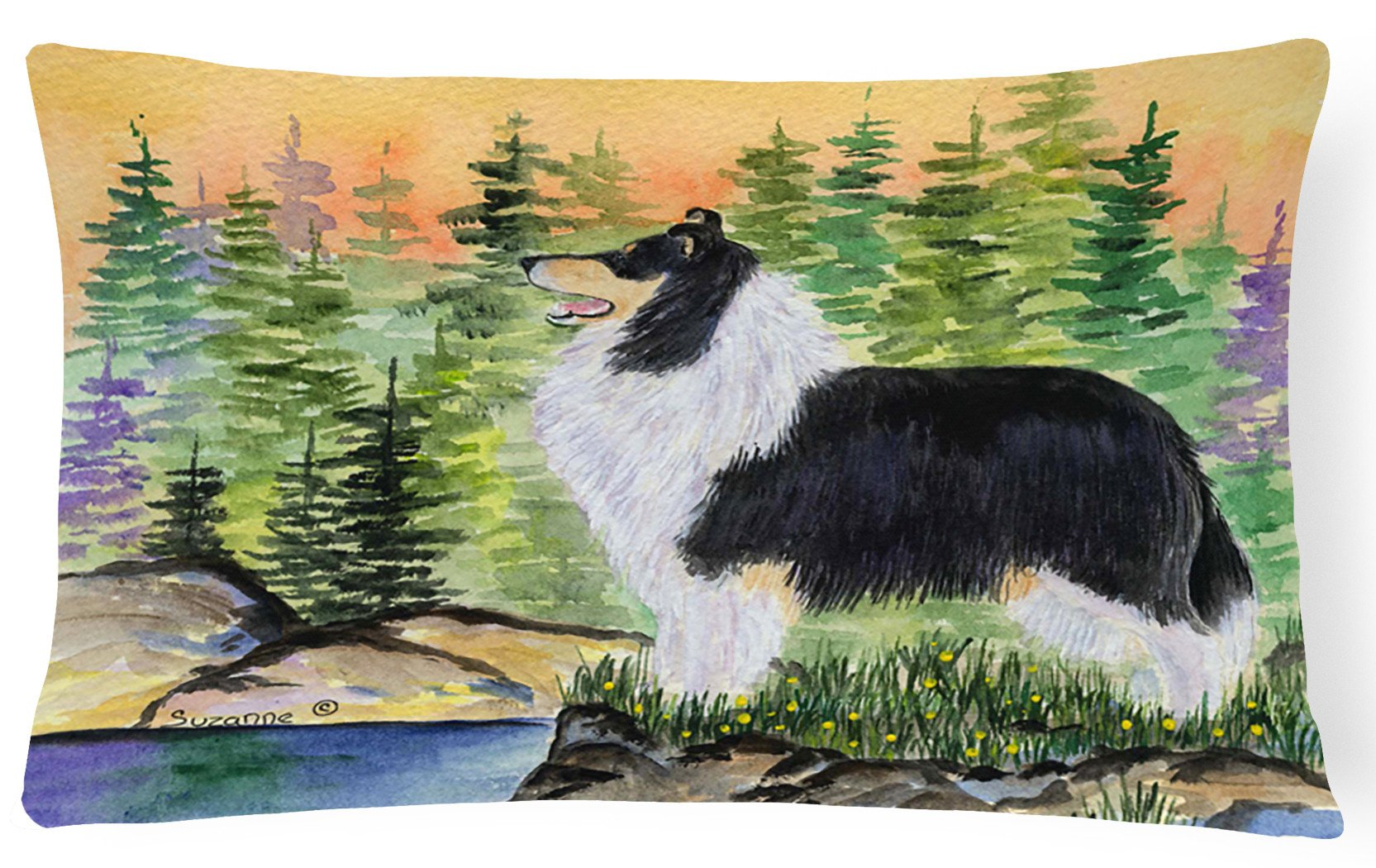 Collie Decorative   Canvas Fabric Pillow by Caroline's Treasures