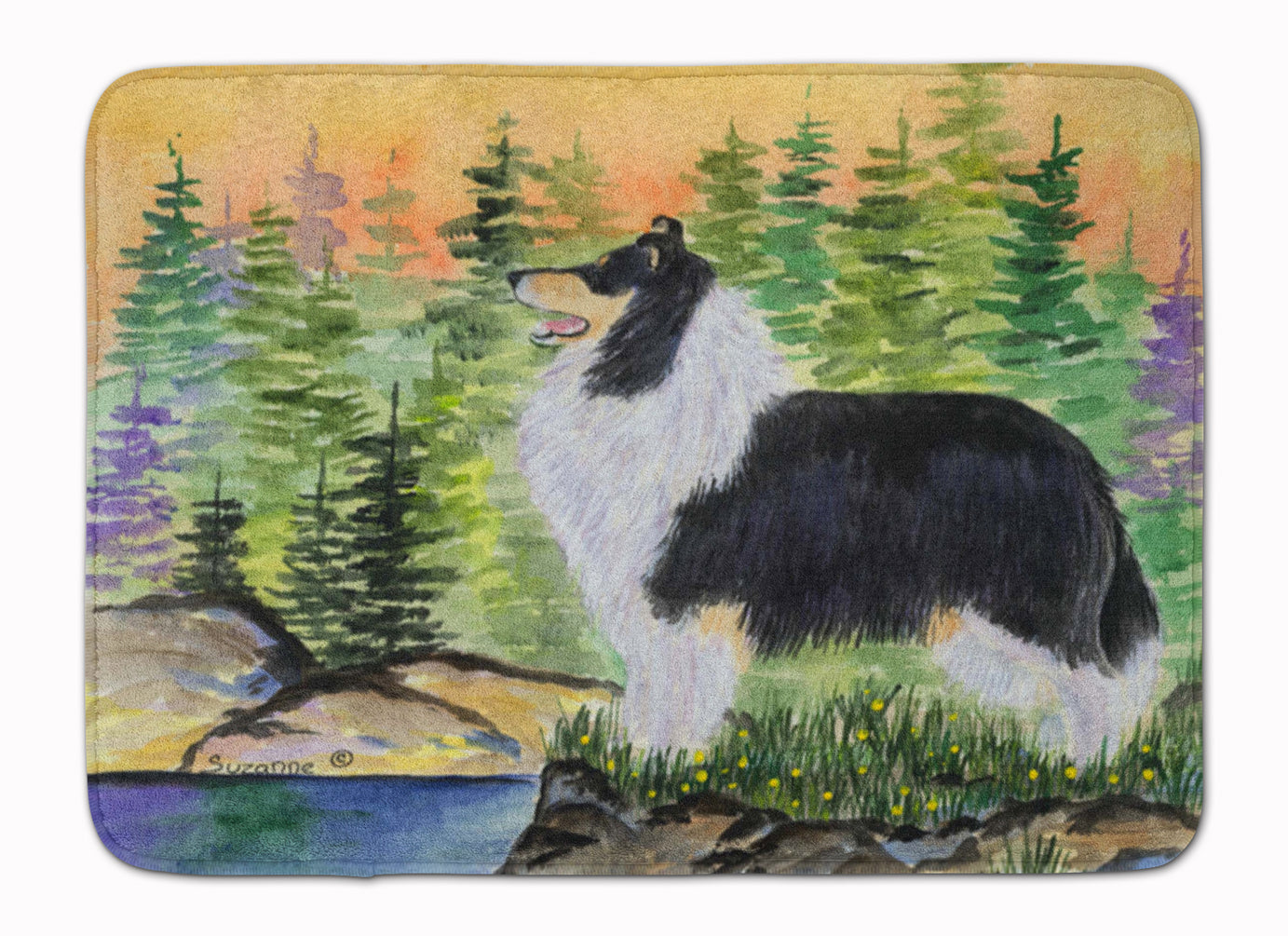 Collie Machine Washable Memory Foam Mat SS8203RUG by Caroline's Treasures