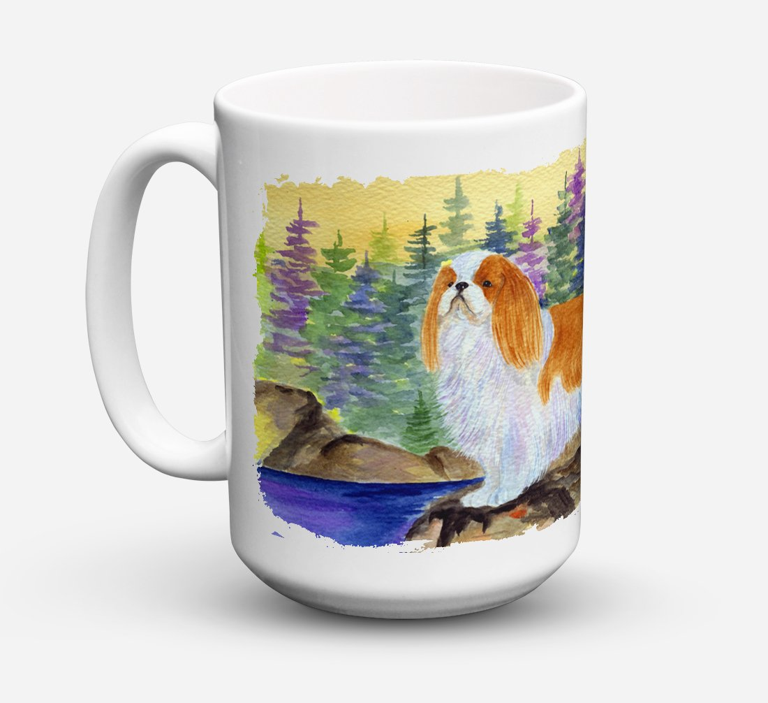 Buy this English Toy Spaniel Dishwasher Safe Microwavable Ceramic Coffee Mug 15 ounce SS8204CM15