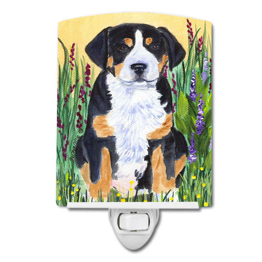 Greater Swiss Mountain Dog Ceramic Night Light SS8217CNL by Caroline's Treasures