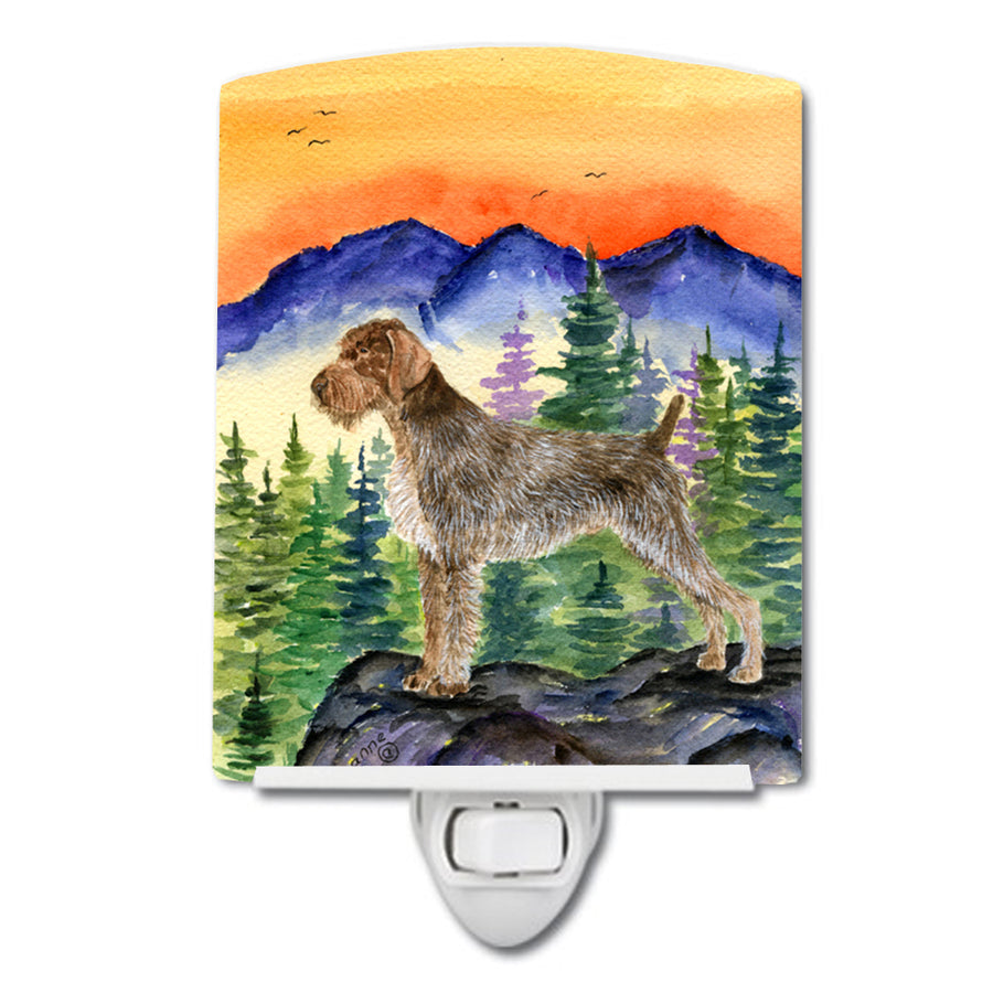 Buy this German Wirehaired Pointer Ceramic Night Light SS8226CNL