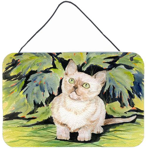 Cat - Burmese Indoor Aluminium Metal Wall or Door Hanging Prints by Caroline's Treasures