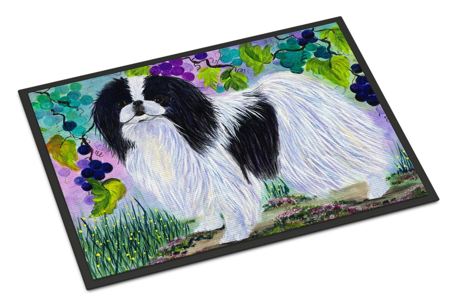 Japanese Chin Indoor Outdoor Mat 18x27 Doormat by Caroline's Treasures