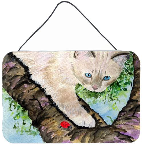 Cat - Birman Indoor Aluminium Metal Wall or Door Hanging Prints by Caroline's Treasures
