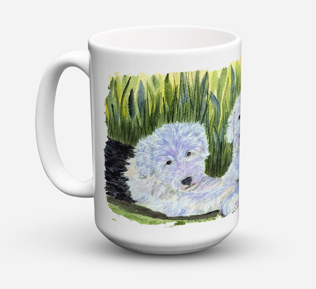 Old English Sheepdog Dishwasher Safe Microwavable Ceramic Coffee Mug 15 ounce SS8282CM15 by Caroline's Treasures