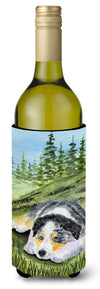 Buy this Australian Shepherd Wine Bottle Beverage Insulator Beverage Insulator Hugger SS8283LITERK