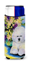 Bichon Frise Ultra Beverage Insulators for slim cans SS8295MUK by Caroline's Treasures