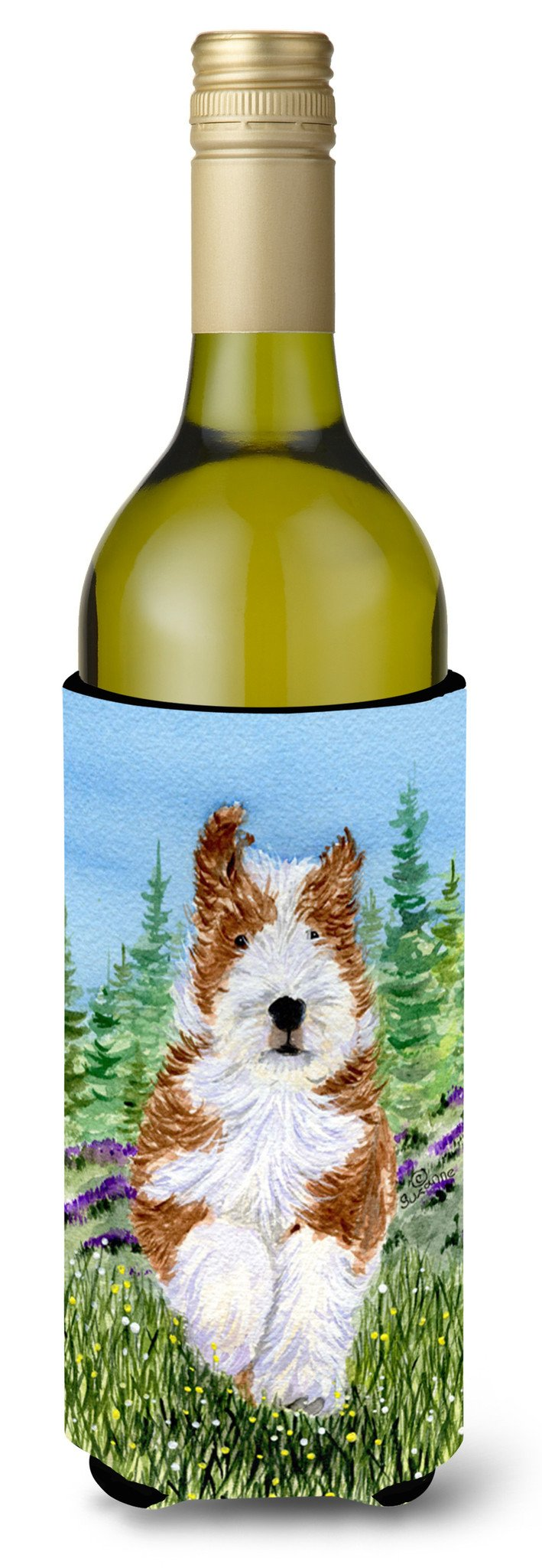 Bearded Collie Wine Bottle Beverage Insulator Beverage Insulator Hugger SS8320LITERK by Caroline's Treasures