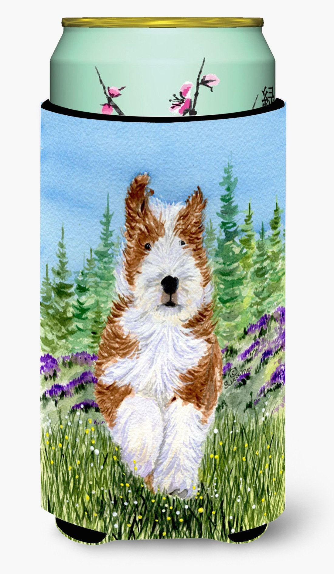 Bearded Collie  Tall Boy Beverage Insulator Beverage Insulator Hugger by Caroline's Treasures