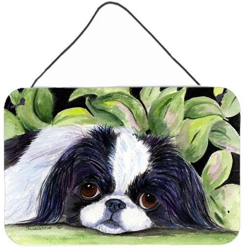 Japanese Chin Indoor Aluminium Metal Wall or Door Hanging Prints by Caroline's Treasures