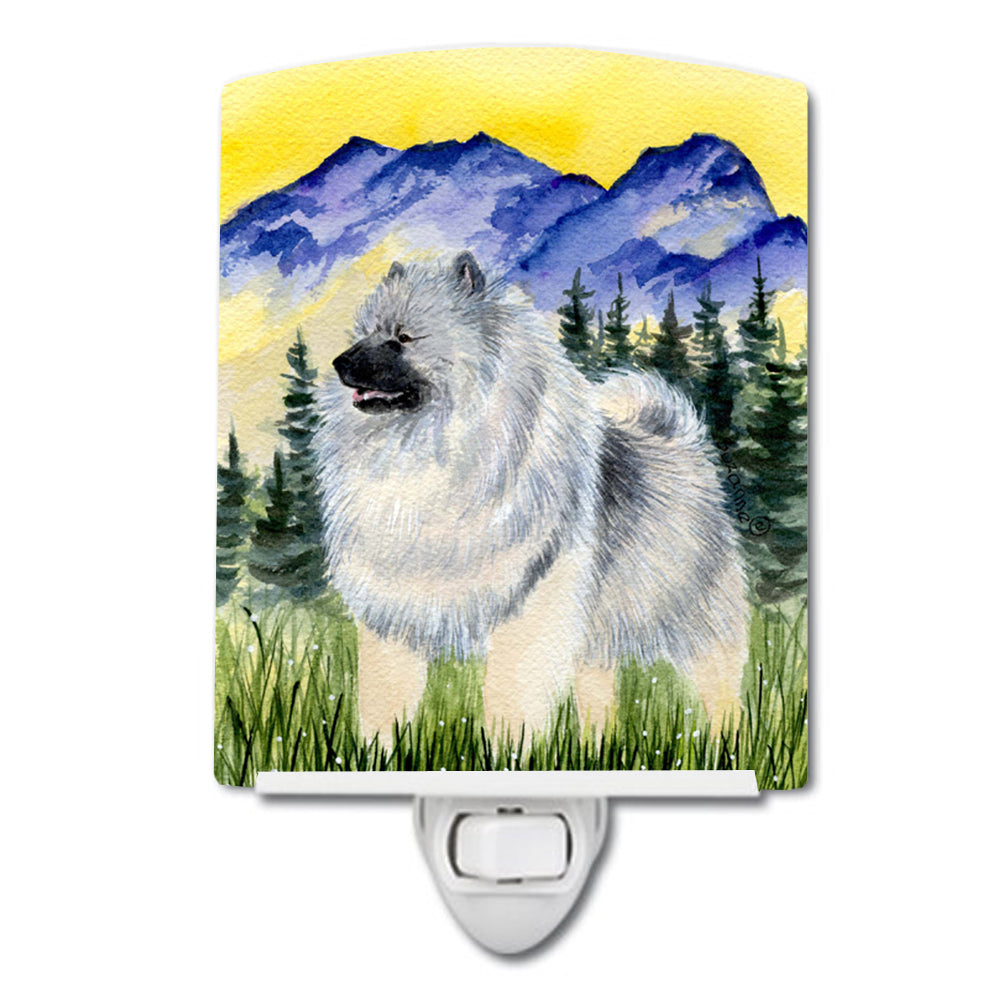 Keeshond Ceramic Night Light SS8323CNL by Caroline's Treasures