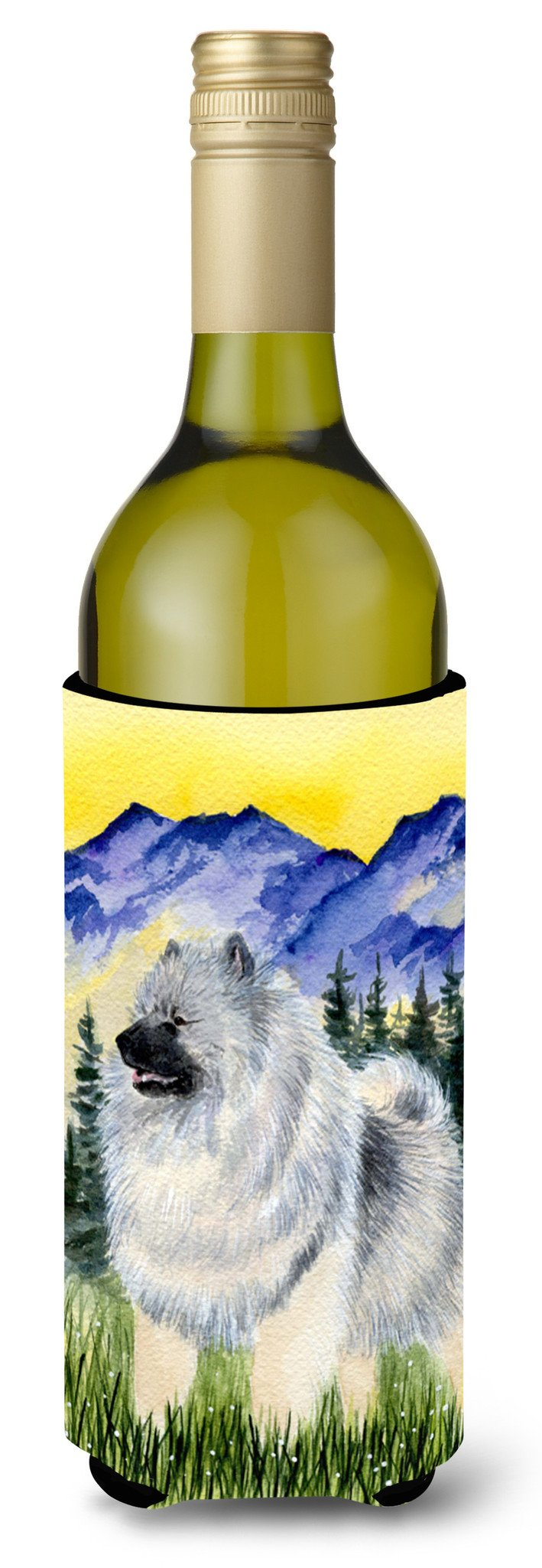 Keeshond Wine Bottle Beverage Insulator Beverage Insulator Hugger SS8323LITERK by Caroline's Treasures