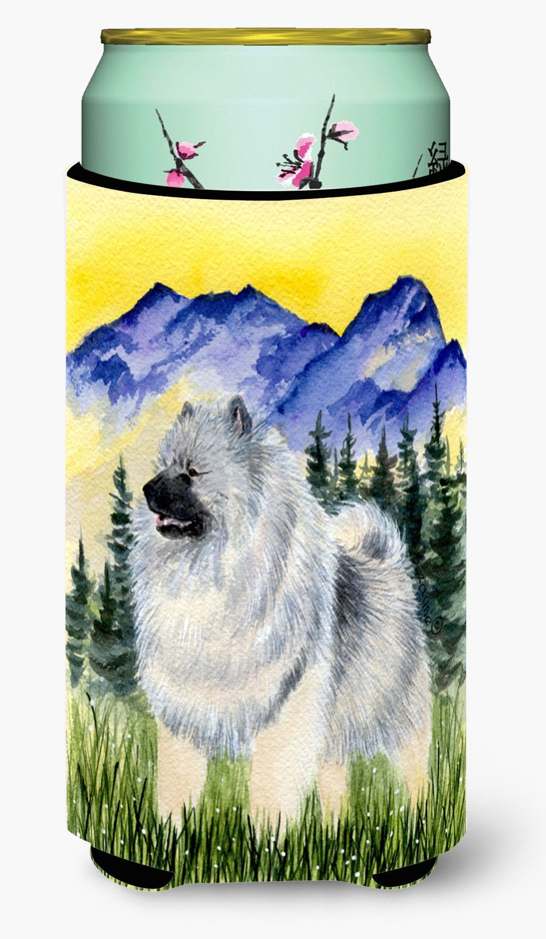 Keeshond  Tall Boy Beverage Insulator Beverage Insulator Hugger by Caroline's Treasures