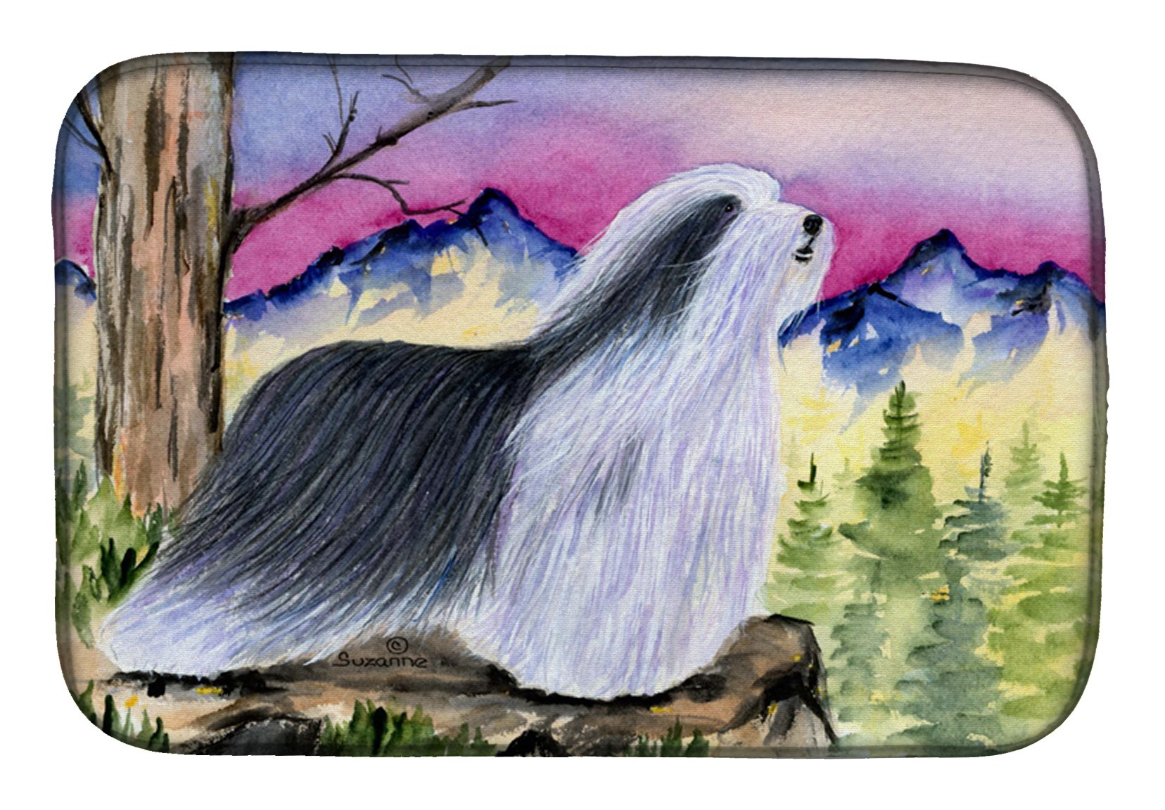 Buy this Bearded Collie Dish Drying Mat SS8338DDM