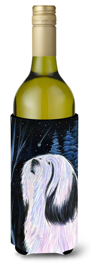 Buy this Tibetan Terrier Wine Bottle Beverage Insulator Beverage Insulator Hugger
