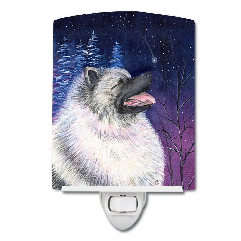 Buy this Starry Night Keeshond Ceramic Night Light SS8350CNL