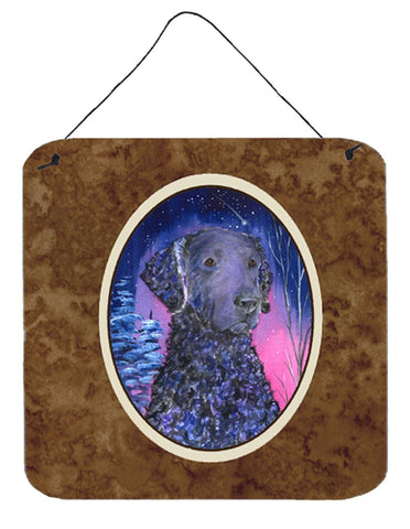 Buy this Starry Night Curly Coated Retriever Aluminium Metal Wall or Door Hanging Prints