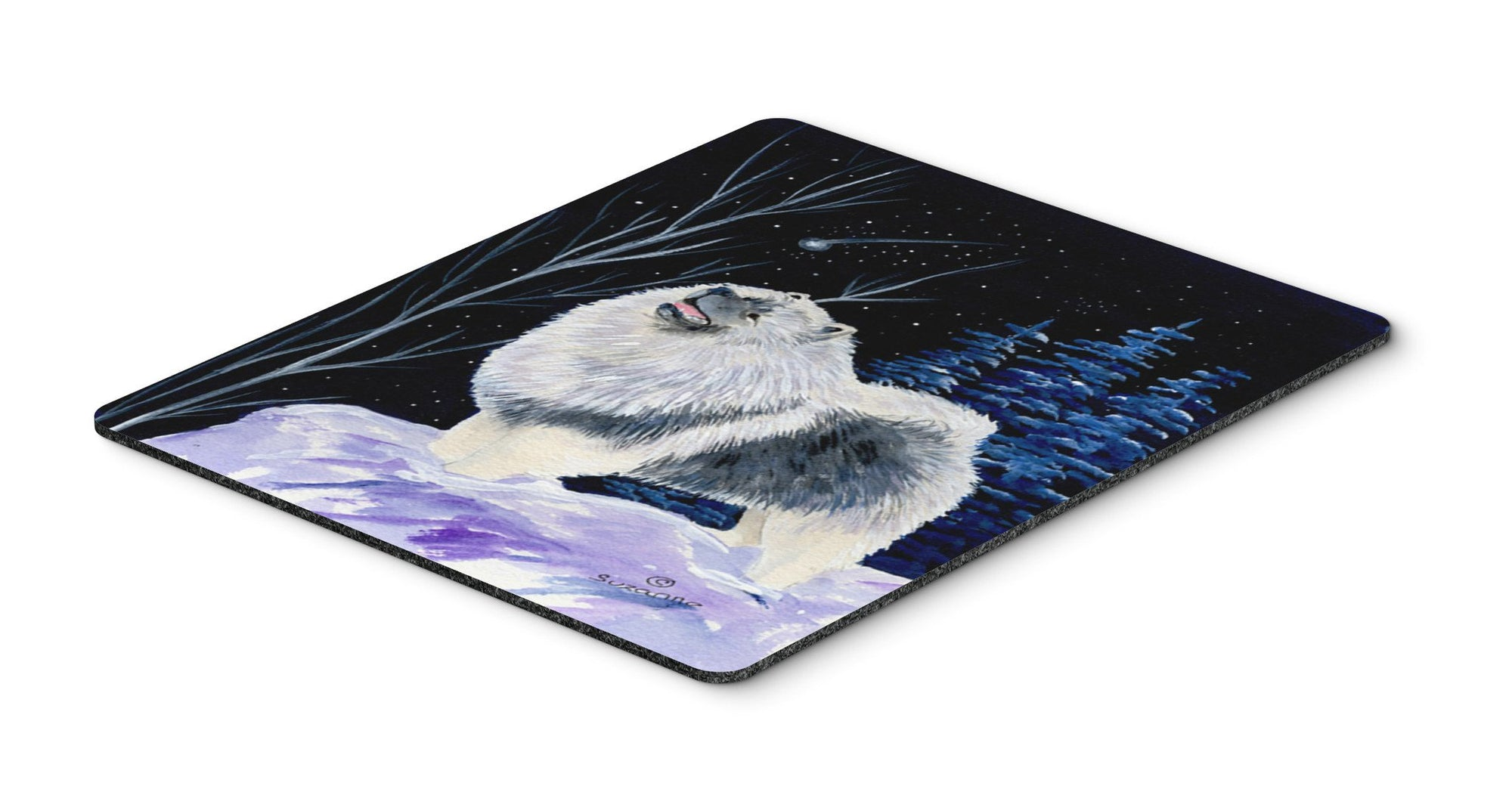 Starry Night Keeshond Mouse Pad / Hot Pad / Trivet by Caroline's Treasures