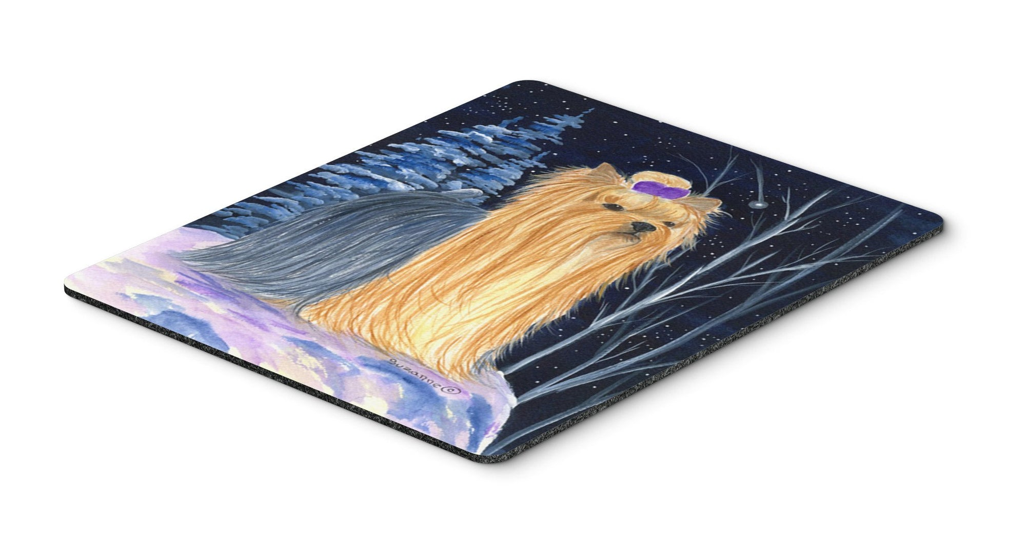 Buy this Starry Night Yorkie Mouse Pad / Hot Pad / Trivet