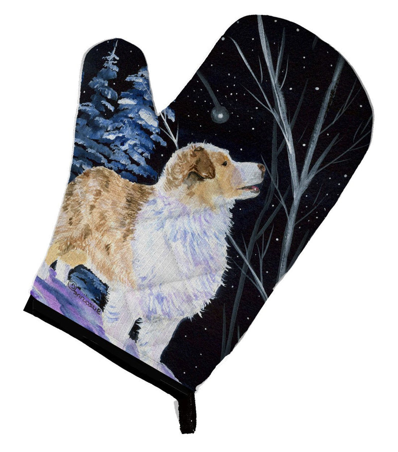 Buy this Starry Night Australian Shepherd Oven Mitt SS8367OVMT