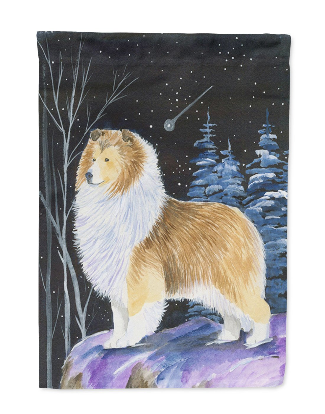 Buy this Starry Night Sheltie Flag Garden Size