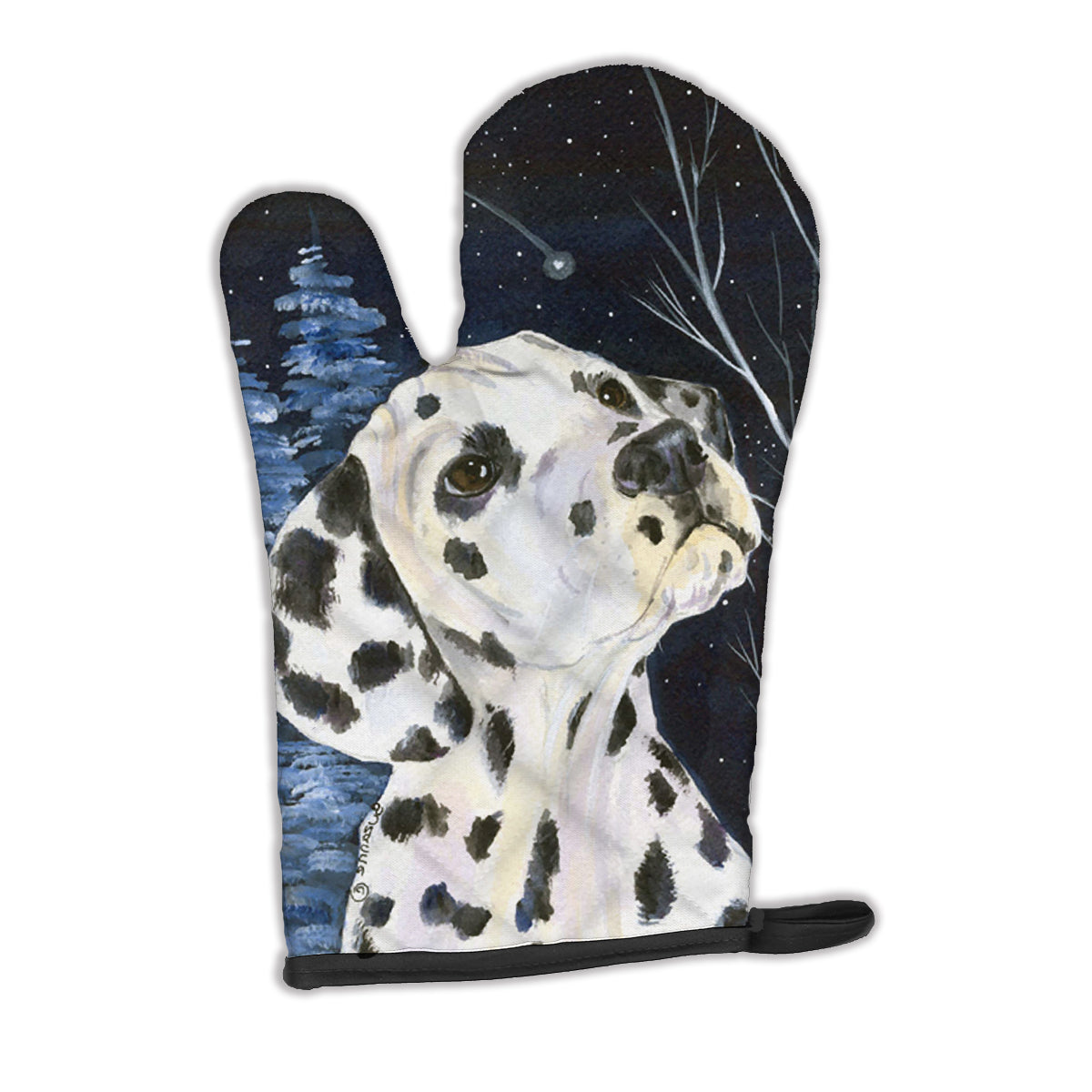 Buy this Starry Night Dalmatian Oven Mitt SS8370OVMT