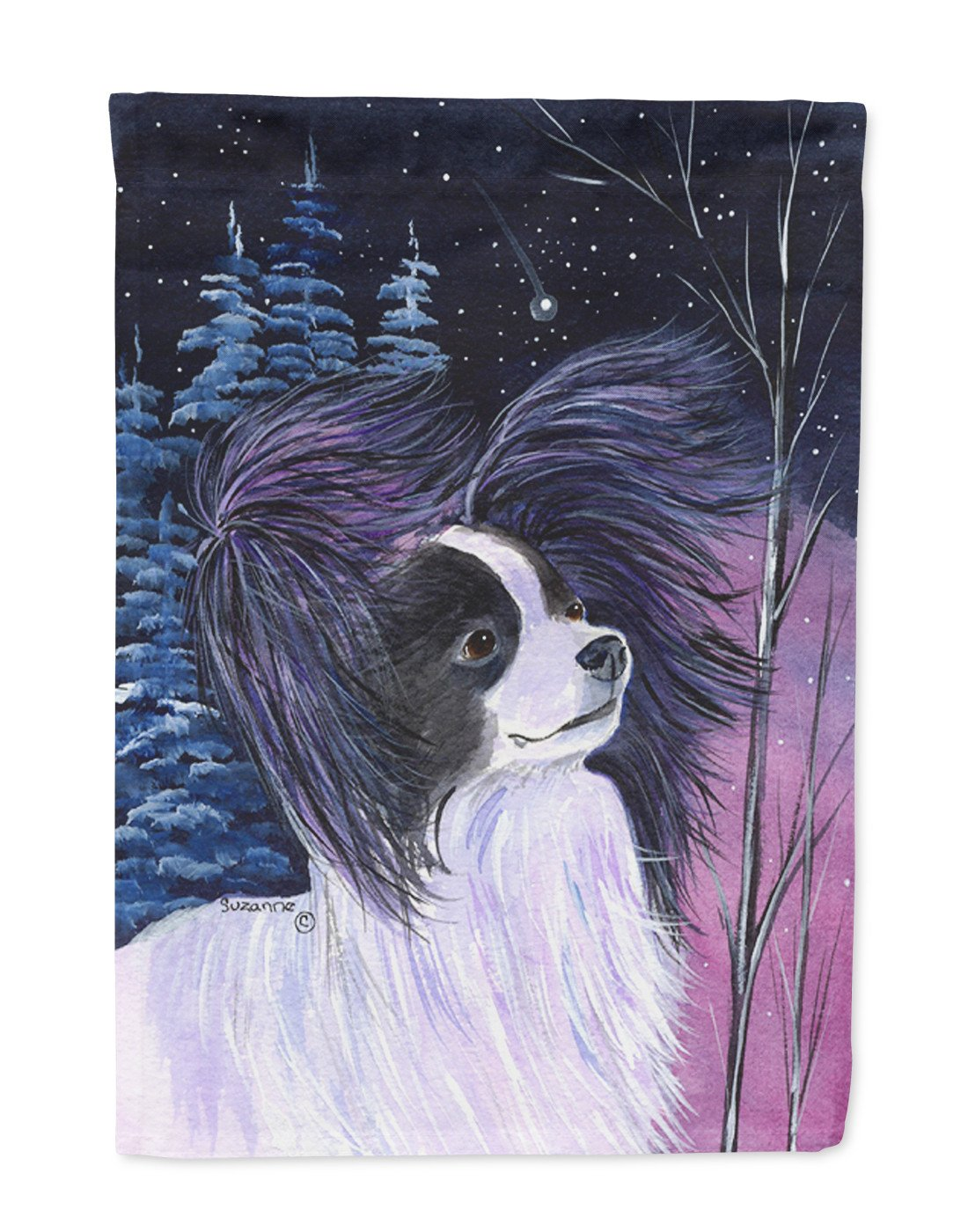 Buy this Starry Night Papillon Flag Garden Size