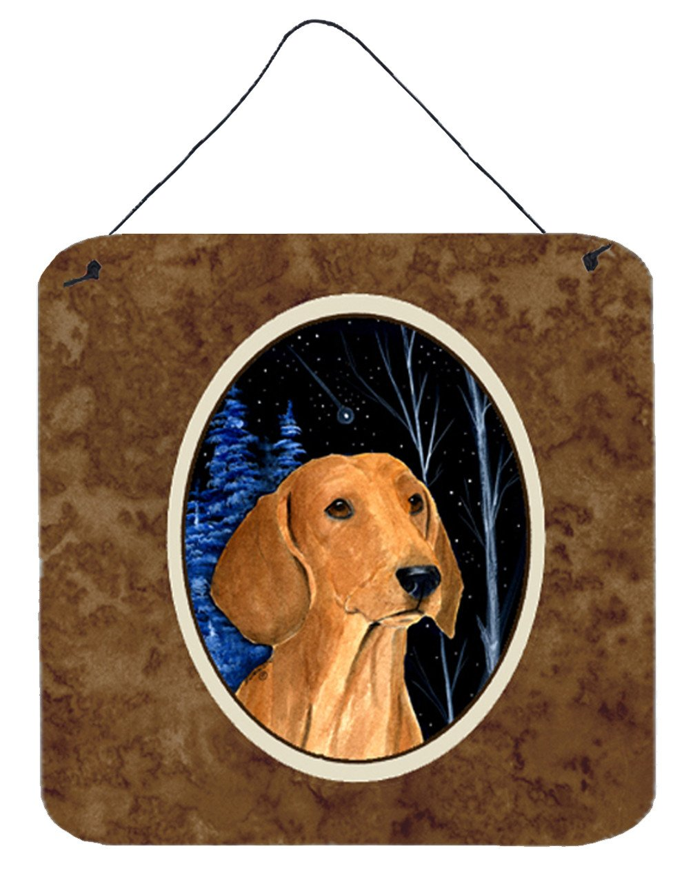 Buy this Starry Night Dachshund Aluminium Metal Wall or Door Hanging Prints