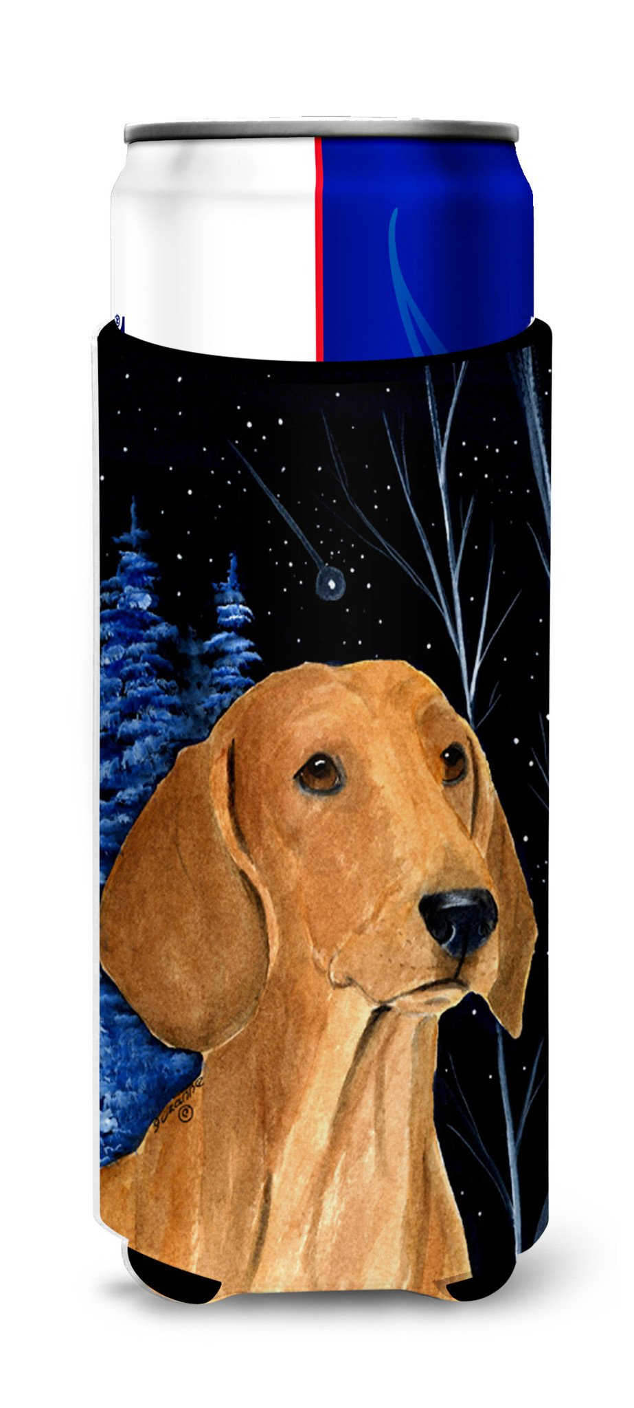 Buy this Starry Night Dachshund Ultra Beverage Insulators for slim cans SS8379MUK
