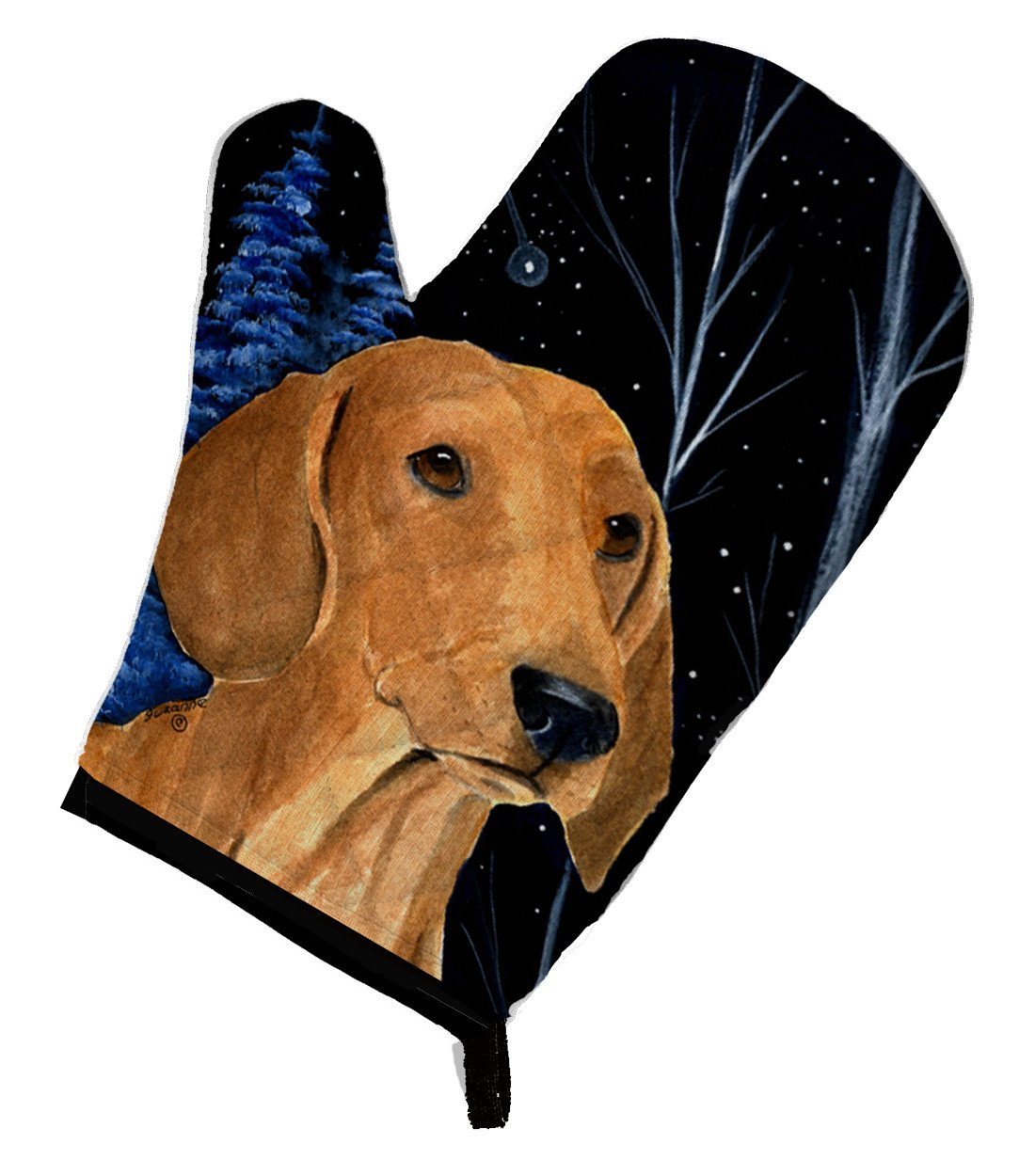 Buy this Starry Night Dachshund Oven Mitt SS8379OVMT