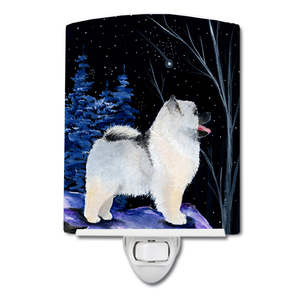 Buy this Starry Night Keeshond Ceramic Night Light SS8380CNL