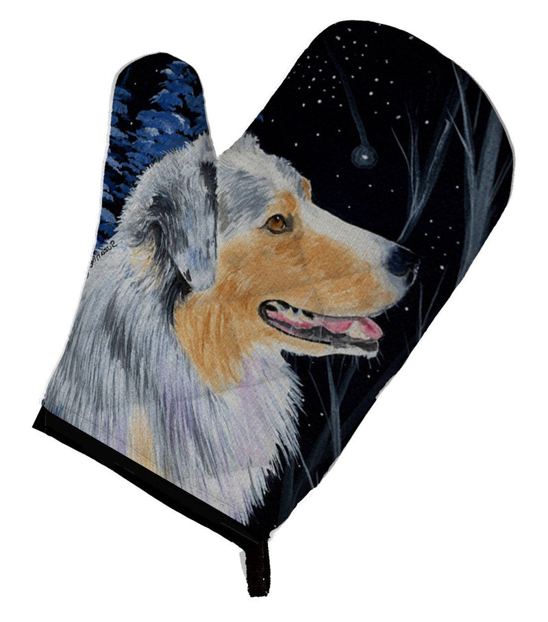 Buy this Starry Night Australian Shepherd Oven Mitt SS8382OVMT