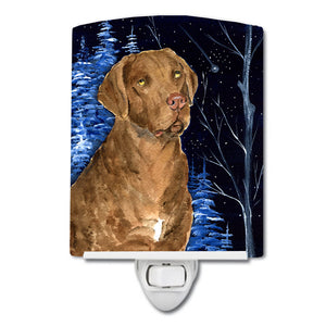 Buy this Starry Night Chesapeake Bay Retriever Ceramic Night Light SS8384CNL