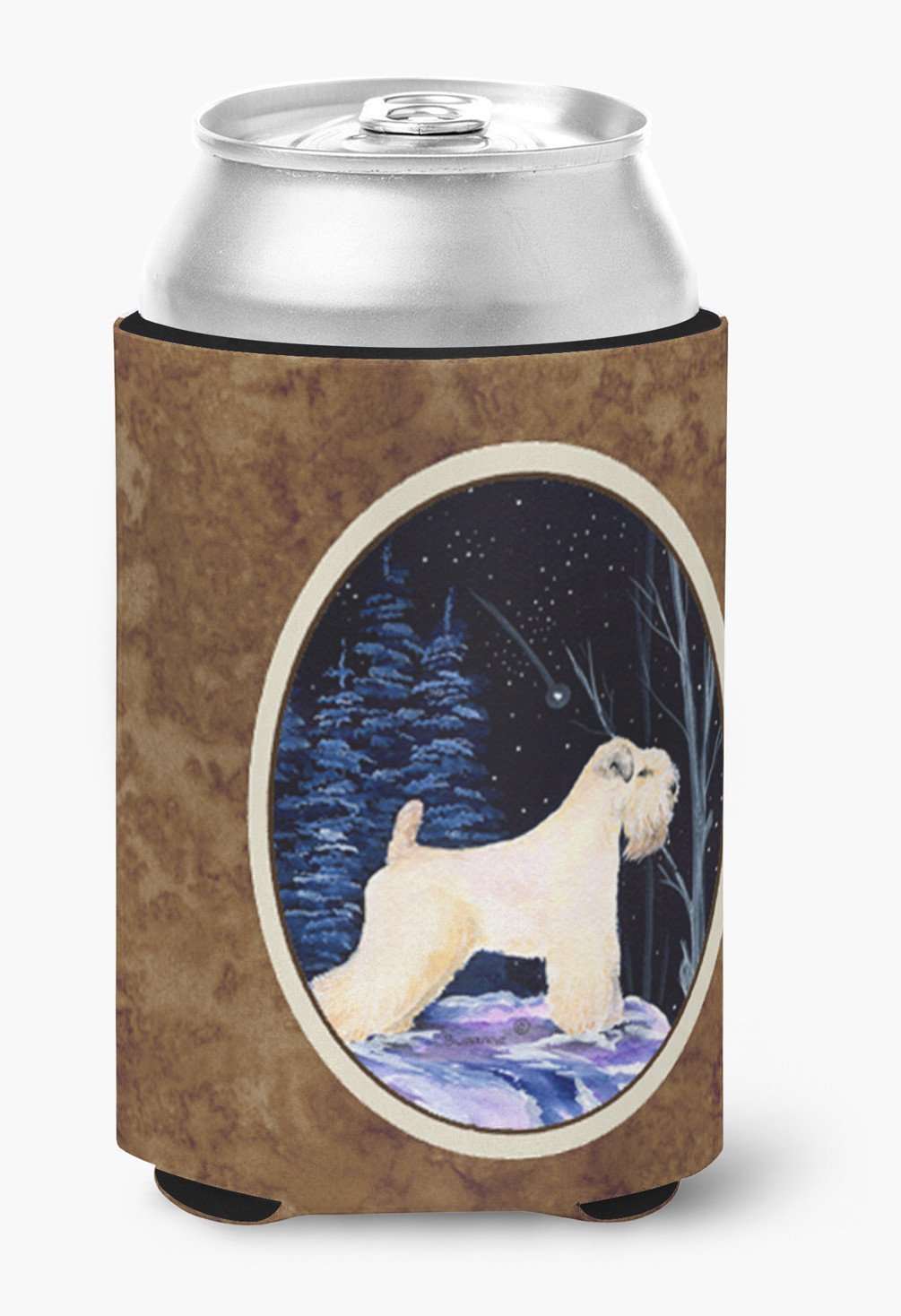 Starry Night Wheaten Terrier Soft Coated Can or Bottle Beverage Insulator Hugger by Caroline's Treasures