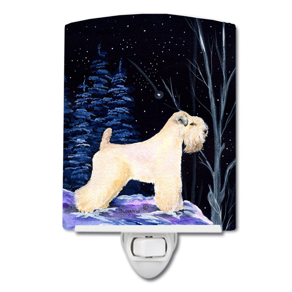 Starry Night Wheaten Terrier Soft Coated Ceramic Night Light SS8386CNL by Caroline's Treasures