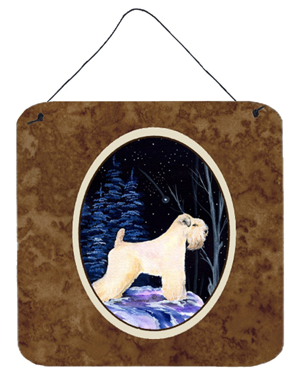 Starry Night Wheaten Terrier Soft Coated Wall or Door Hanging Prints by Caroline's Treasures