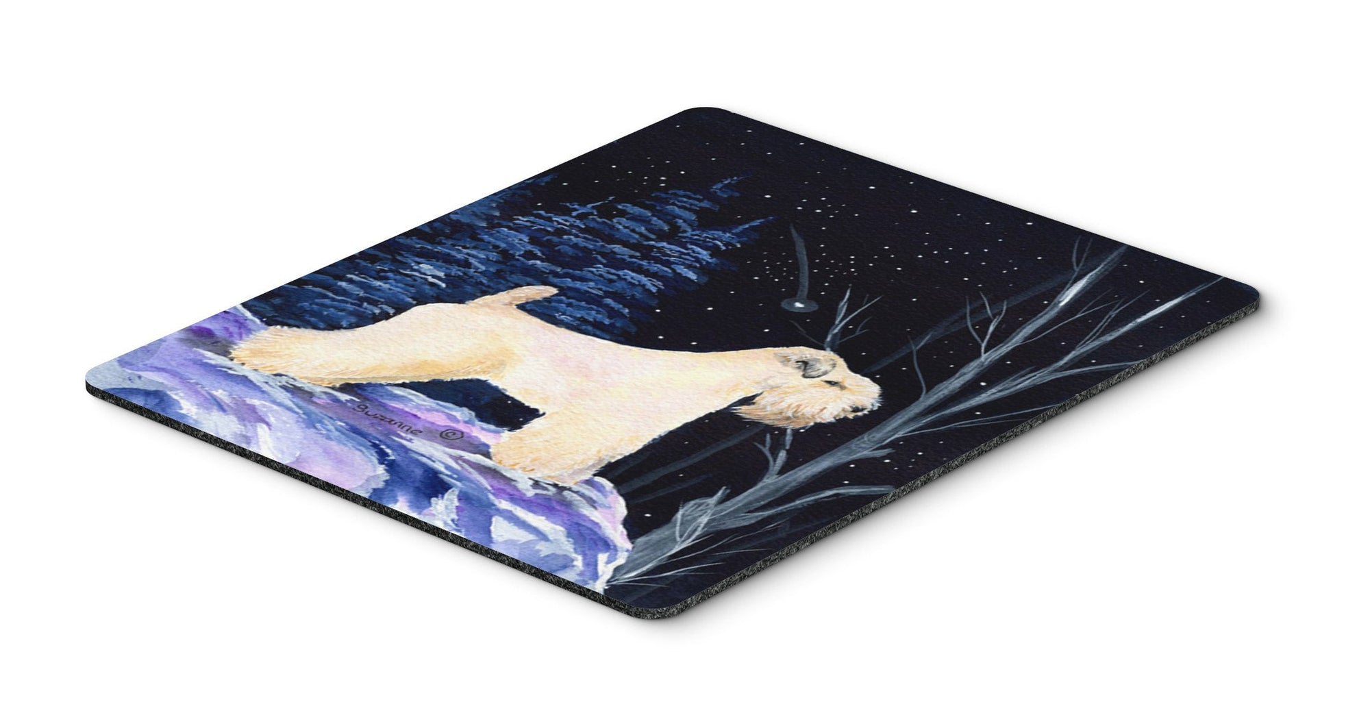 Starry Night Wheaten Terrier Soft Coated Mouse Pad / Hot Pad / Trivet by Caroline's Treasures