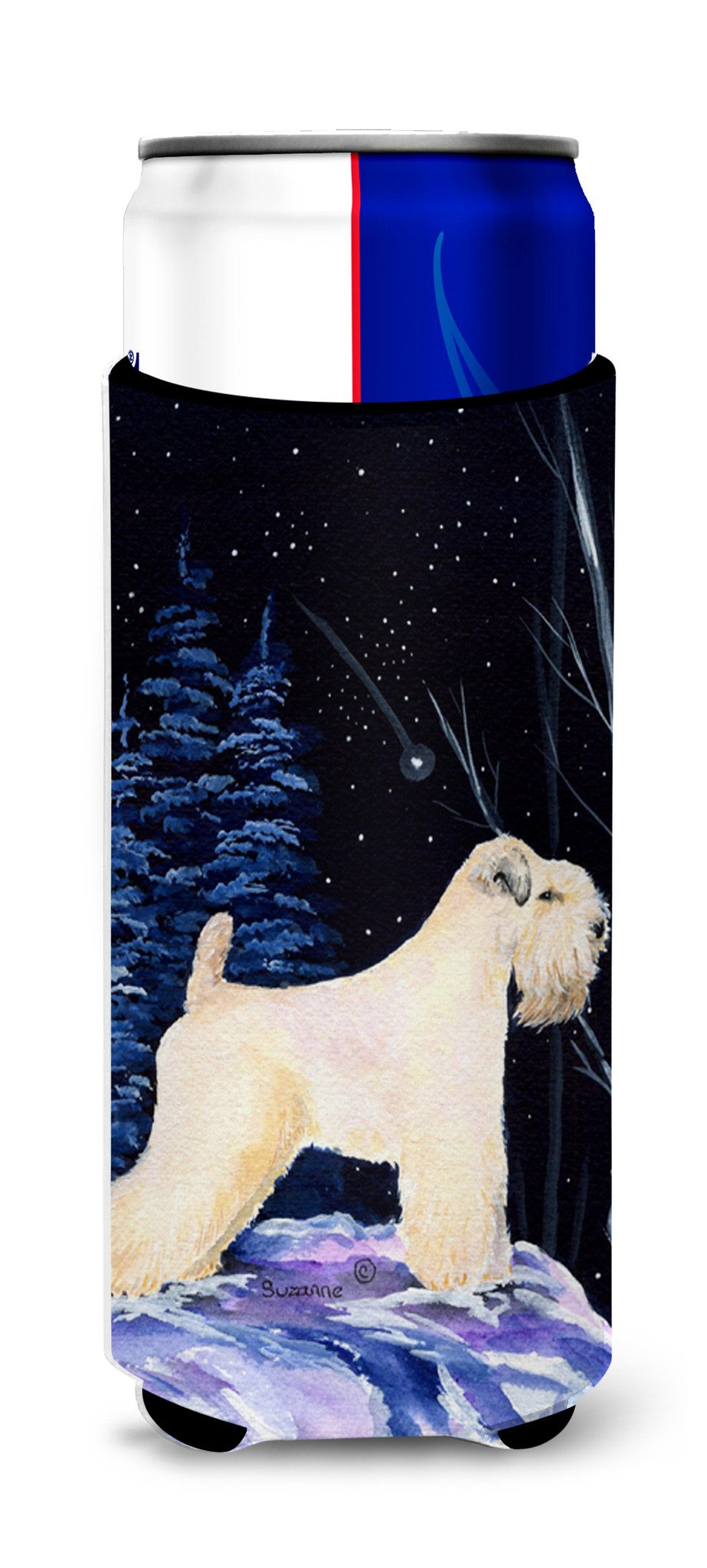 Starry Night Wheaten Terrier Soft Coated Ultra Beverage Insulators for slim cans SS8386MUK by Caroline's Treasures