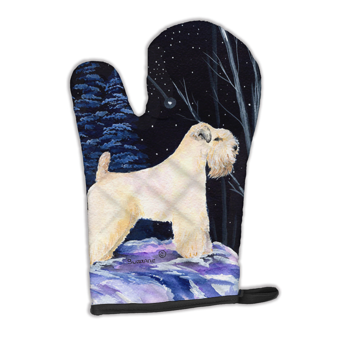 Starry Night Wheaten Terrier Soft Coated Oven Mitt SS8386OVMT by Caroline's Treasures