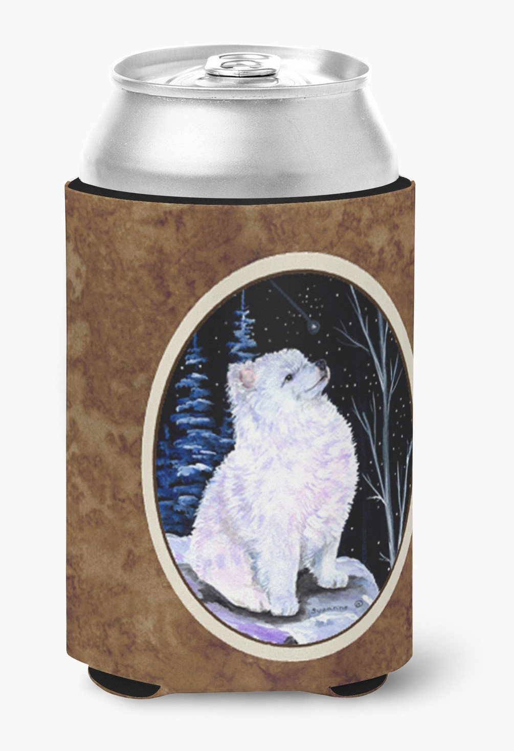 Starry Night American Eskimo Can or Bottle Beverage Insulator Hugger by Caroline's Treasures