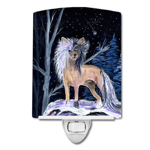 Buy this Starry Night Chinese Crested Ceramic Night Light SS8390CNL