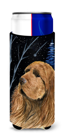 Buy this Starry Night Sussex Spaniel Ultra Beverage Insulators for slim cans SS8391MUK