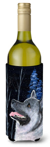 Starry Night Norwegian Elkhound Wine Bottle Beverage Insulator Beverage Insulator Hugger by Caroline's Treasures