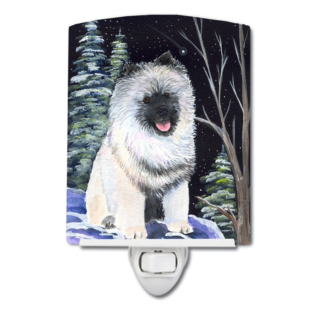 Buy this Starry Night Keeshond Ceramic Night Light SS8404CNL