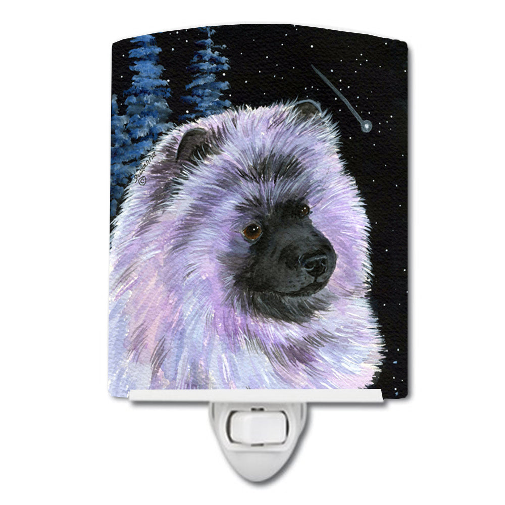 Buy this Starry Night Keeshond Ceramic Night Light SS8412CNL