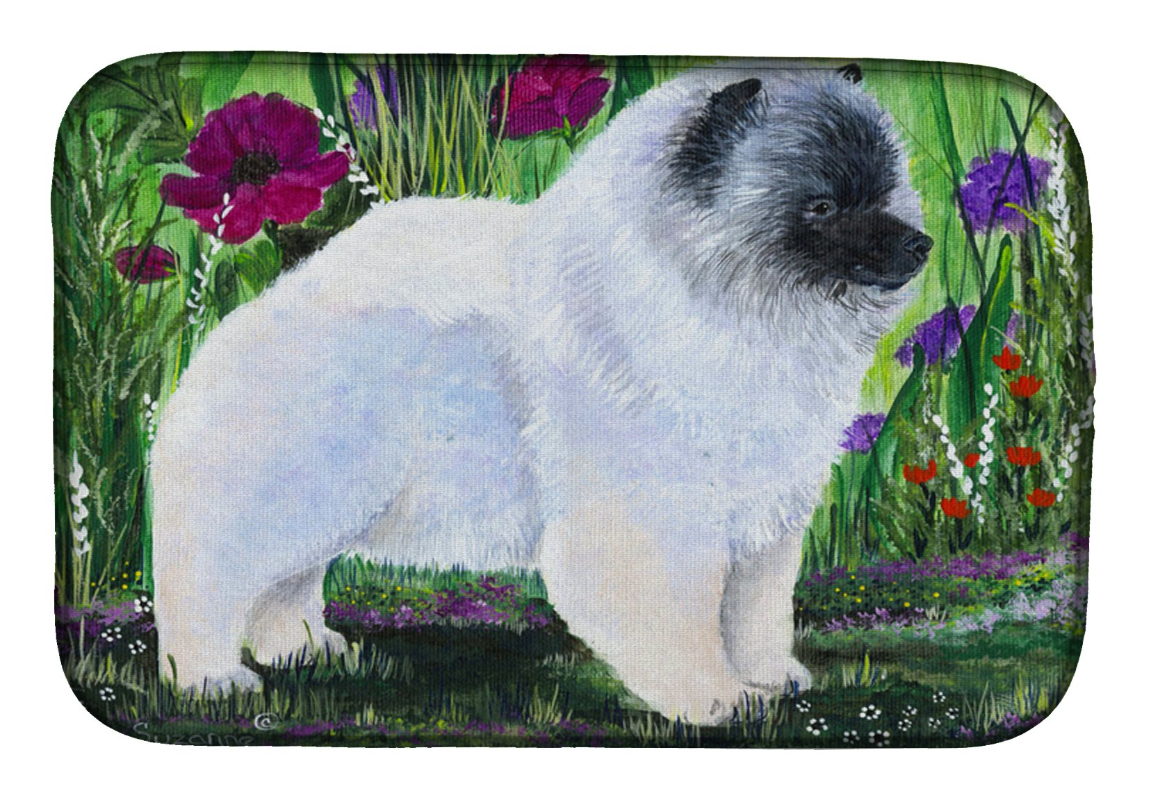 Buy this Keeshond Dish Drying Mat SS8424DDM